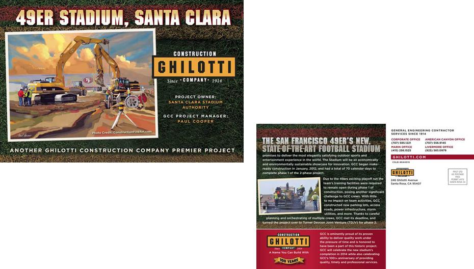 Ghilotti Construction Graphic Design
